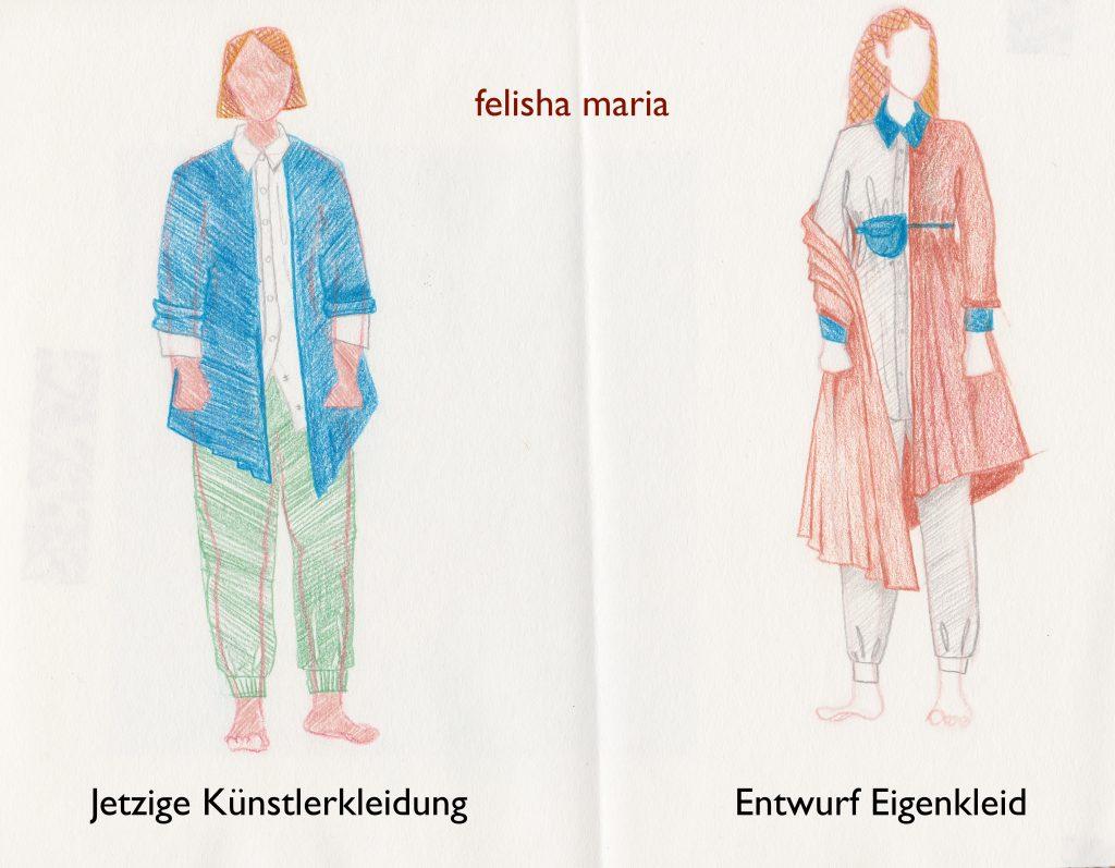 Jetziges Künstlerkleid/ Entwurf Eigenkleid